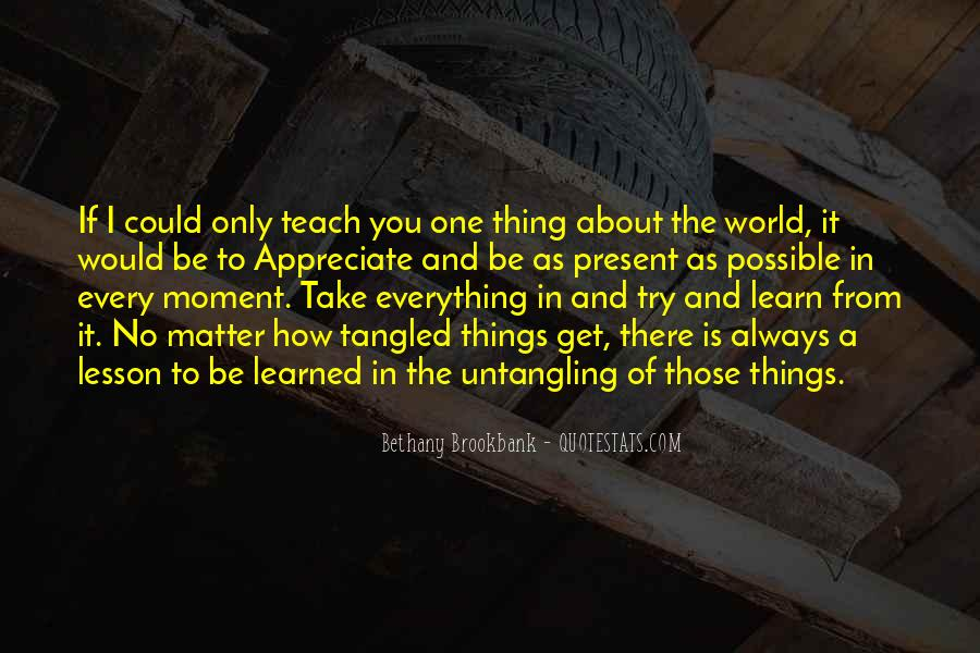 Bethany Brookbank Quotes #122261