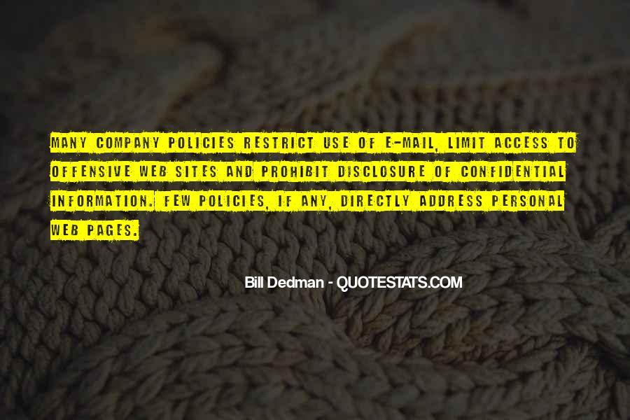 Bill Dedman Quotes #363626
