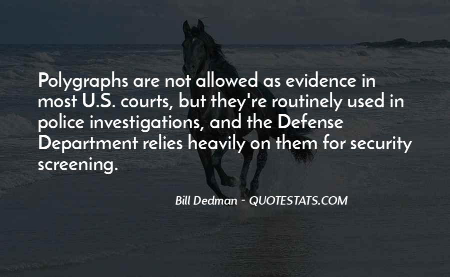 Bill Dedman Quotes #796779