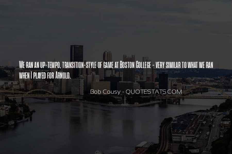 Bob Cousy Quotes #830250