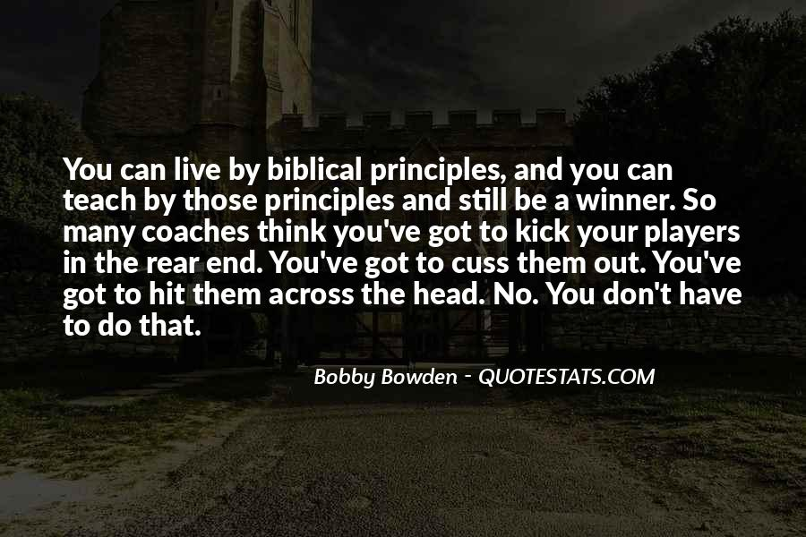 Bobby Bowden Quotes #1201050