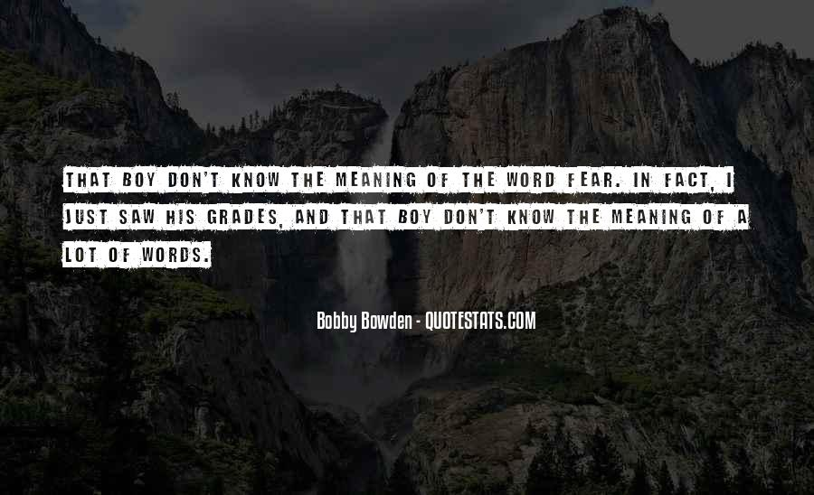 Bobby Bowden Quotes #271242