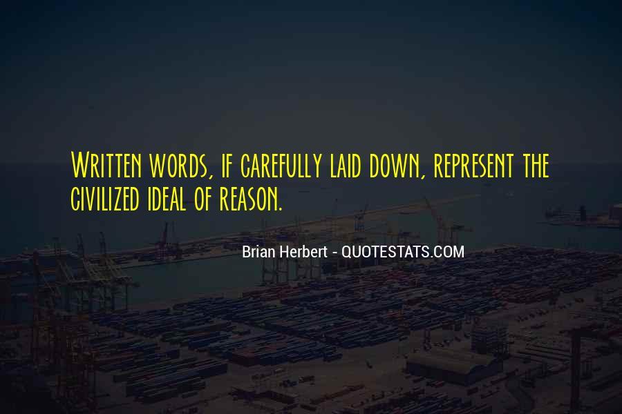 Brian Herbert Quotes #327982