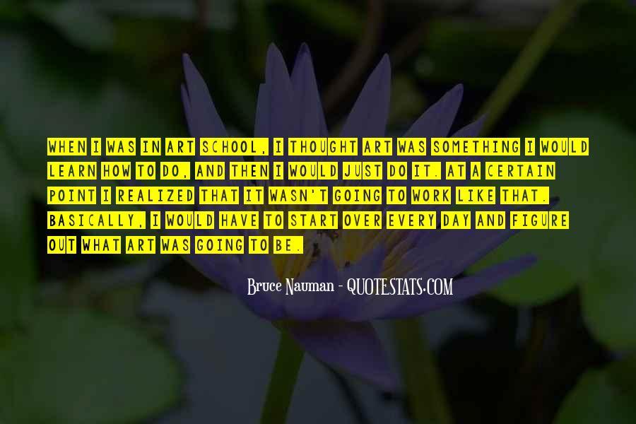 Bruce Nauman Quotes #131948