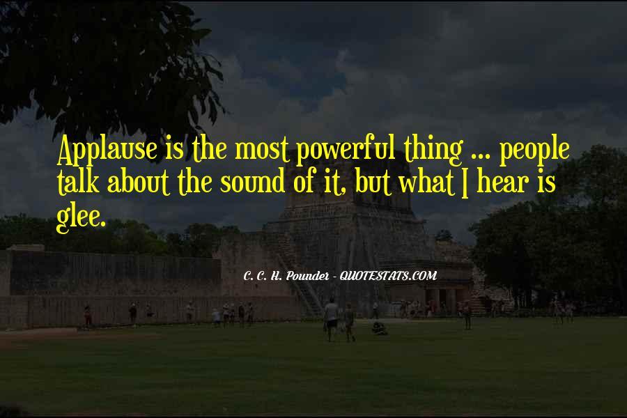 C. C. H. Pounder Quotes #41140