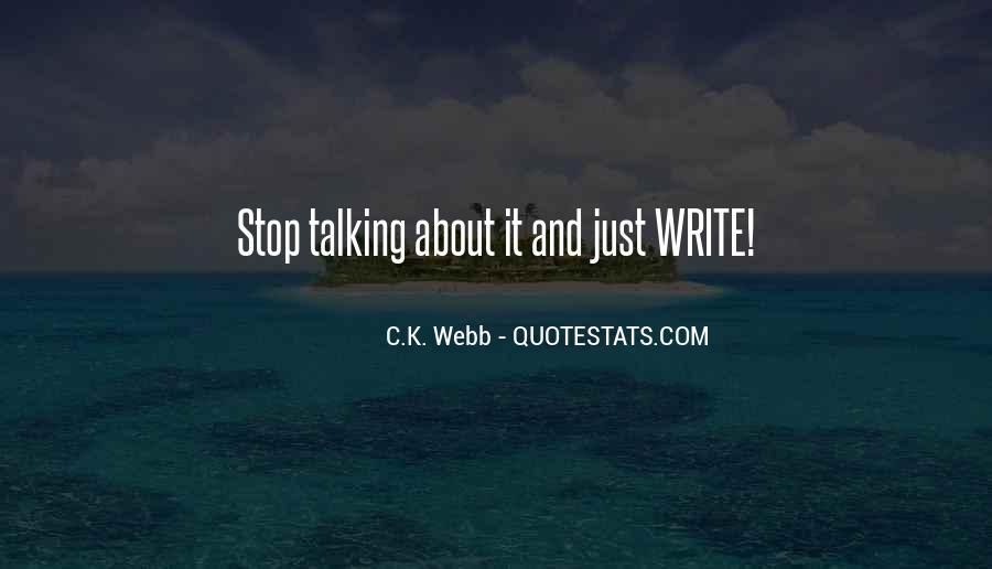 C.K. Webb Quotes #885974