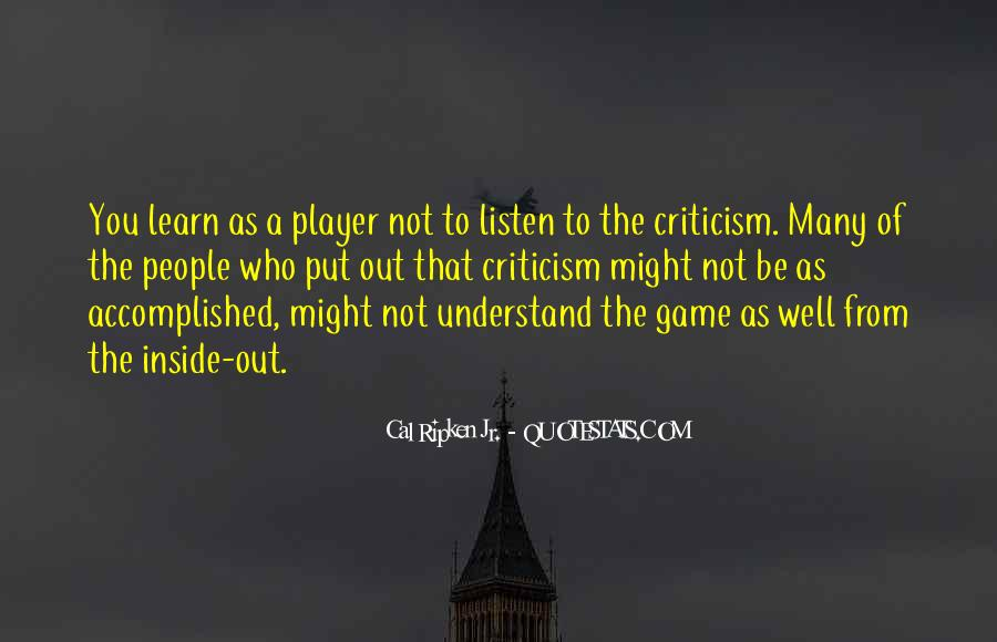 Cal Ripken Jr. Quotes #101157