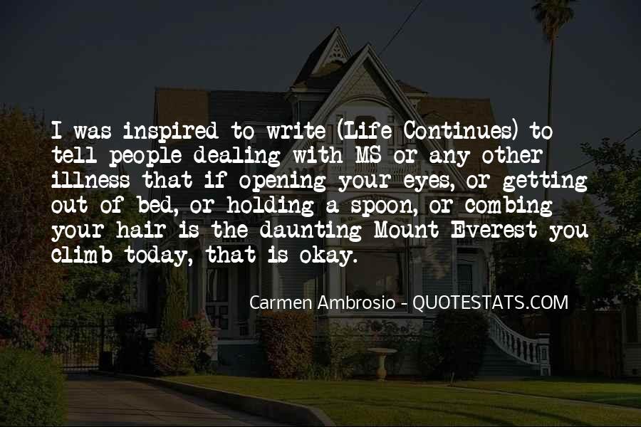 Carmen Ambrosio Quotes #258604