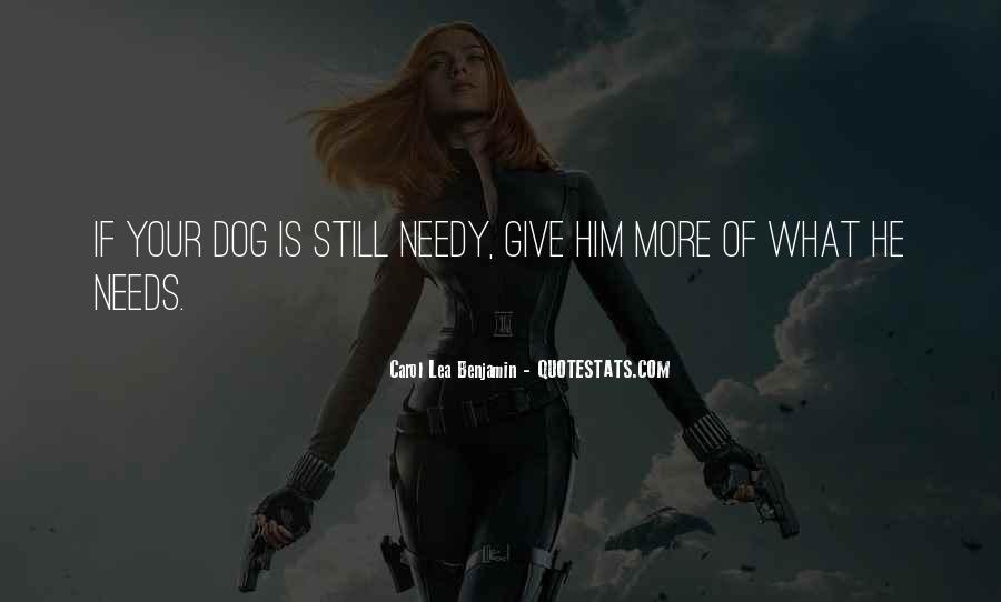 Carol Lea Benjamin Quotes #460221