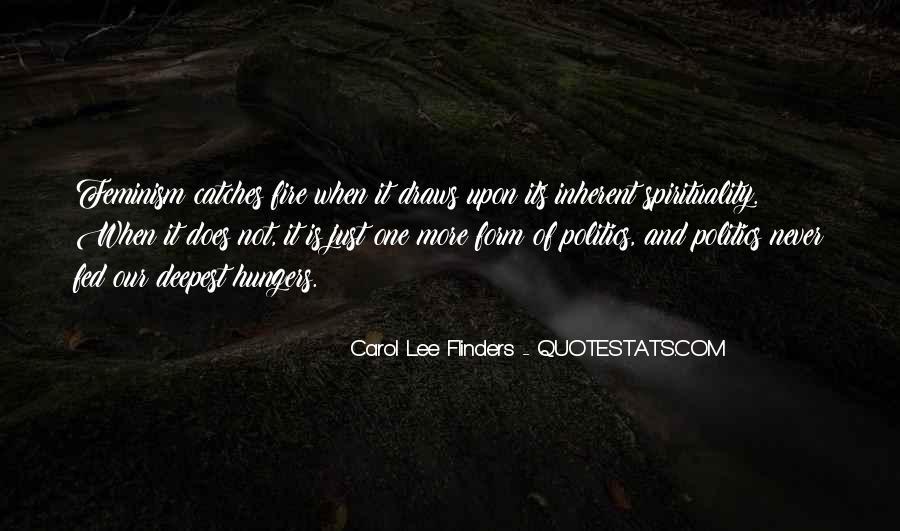 Carol Lee Flinders Quotes #582107