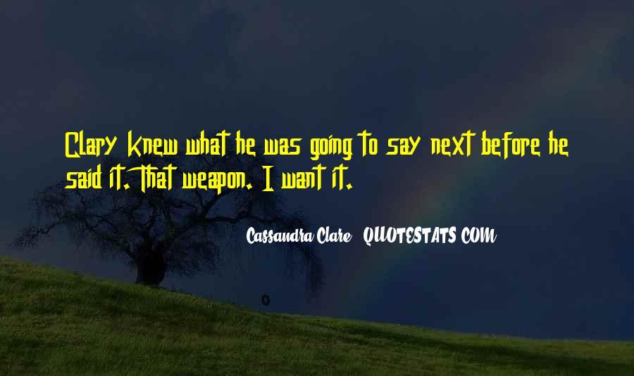 Cassandra Clare Quotes #1028363