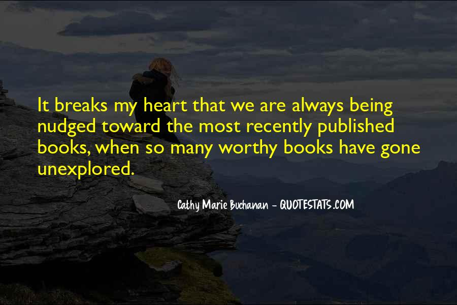 Cathy Marie Buchanan Quotes #1215822