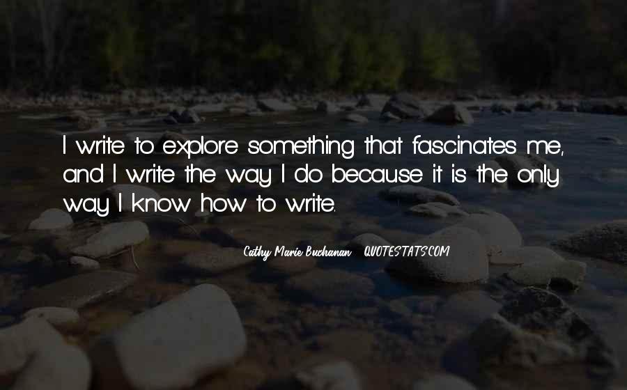 Cathy Marie Buchanan Quotes #762483