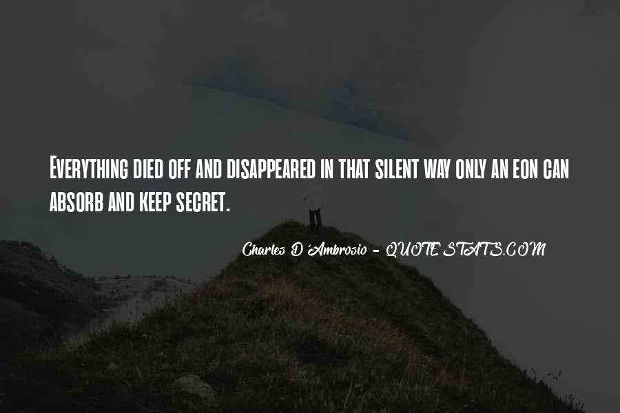 Charles D'Ambrosio Quotes #519348