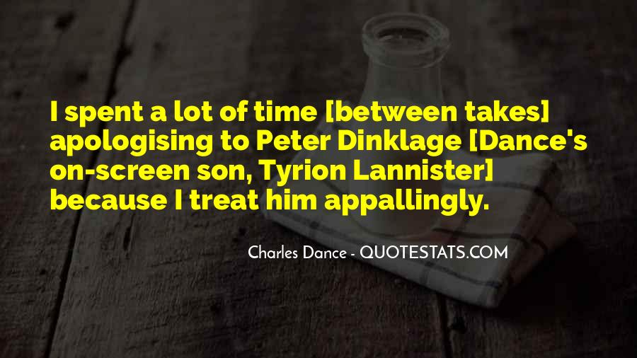 Charles Dance Quotes #614190
