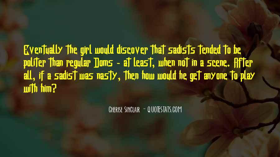Cherise Sinclair Quotes #1056203