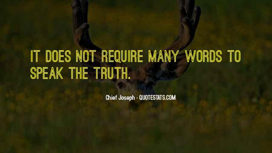Chief Joseph Quotes #124359