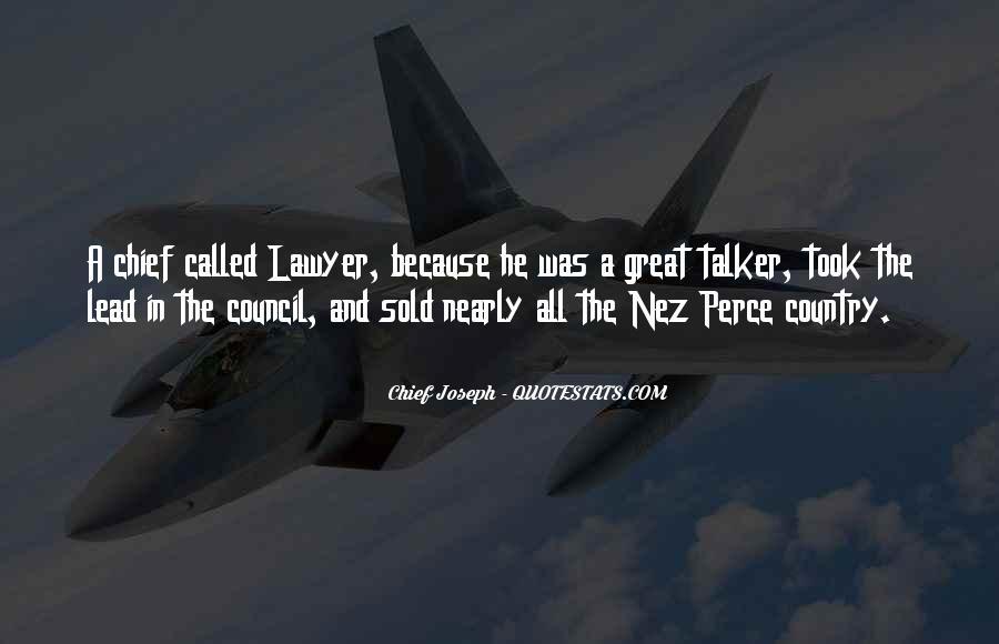 Chief Joseph Quotes #1824038