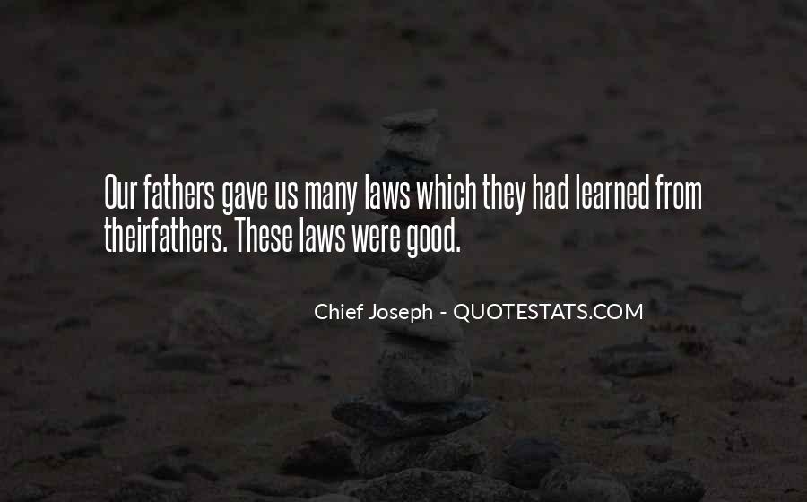 Chief Joseph Quotes #268372