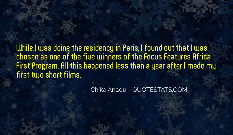 Chika Anadu Quotes #1706359