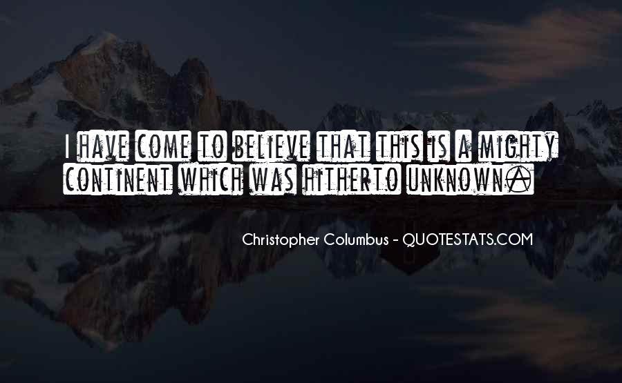 Christopher Columbus Quotes #658755