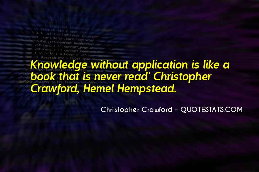 Christopher Crawford Quotes #1857239