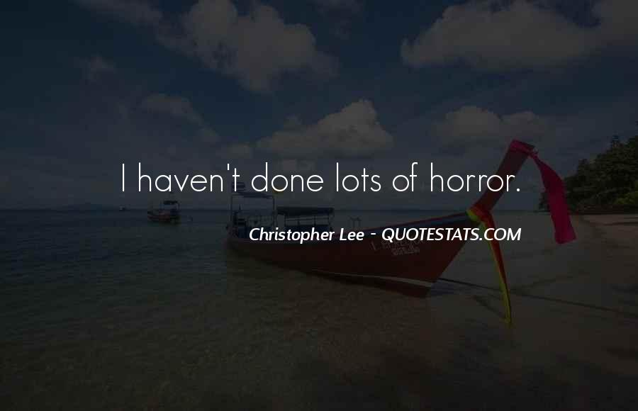 Christopher Lee Quotes #1243039