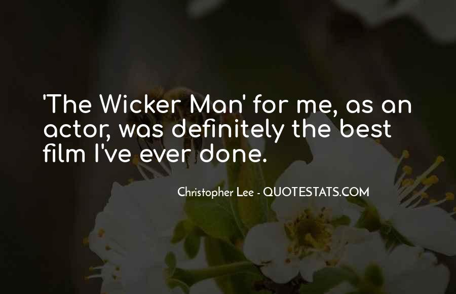 Christopher Lee Quotes #675469