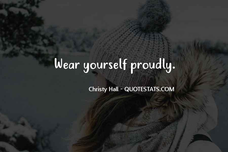 Christy Hall Quotes #135769