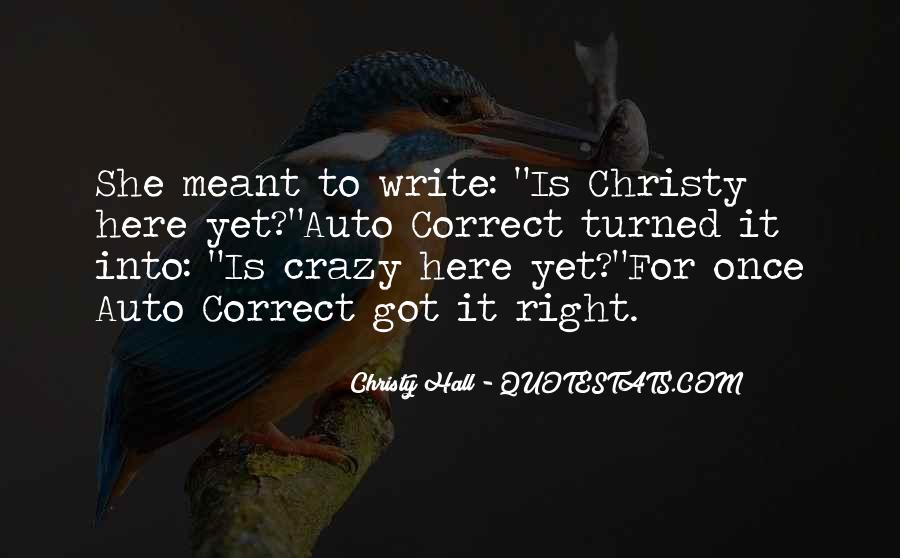 Christy Hall Quotes #1439331