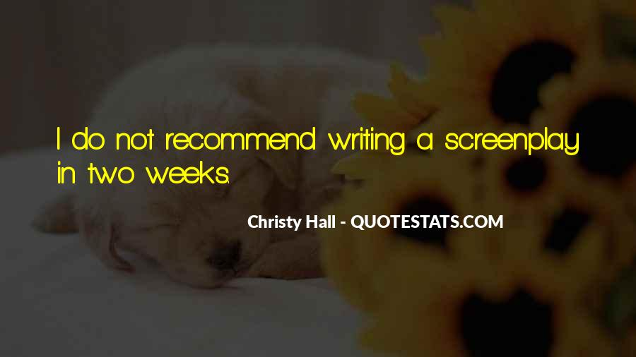 Christy Hall Quotes #197016