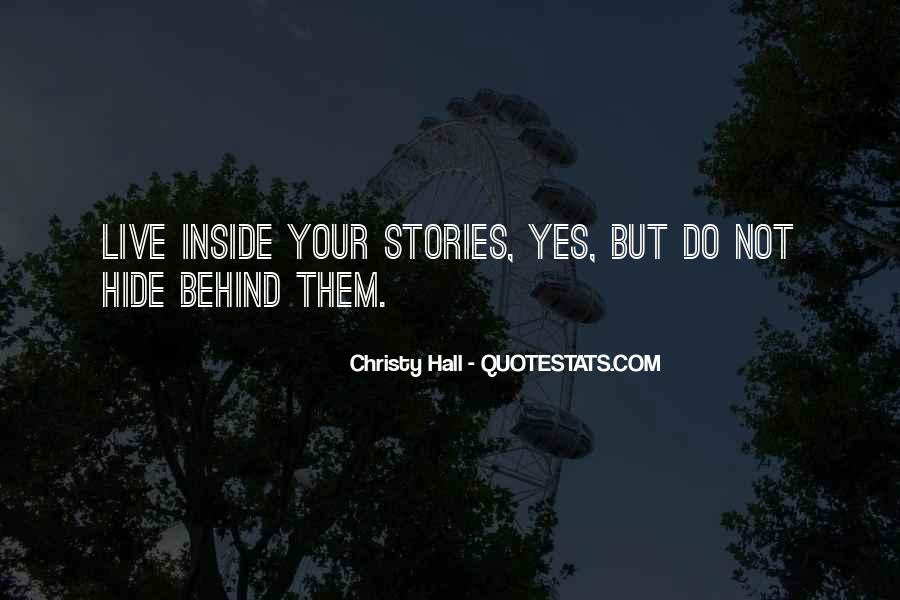 Christy Hall Quotes #707421