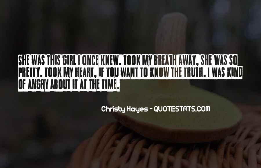 Christy Hayes Quotes #1647493