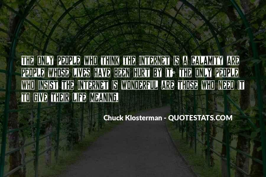 Chuck Klosterman Quotes #1358367