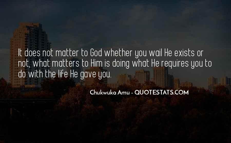 Chukwuka Amu Quotes #328631