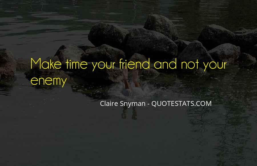 Claire Snyman Quotes #974