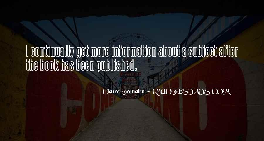 Claire Tomalin Quotes #1114770