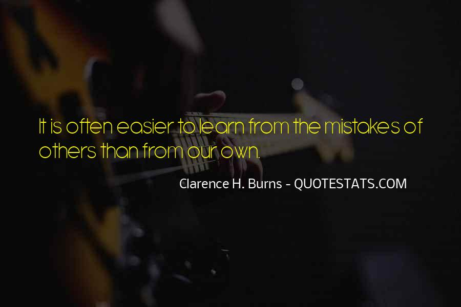 Clarence H. Burns Quotes #1819744