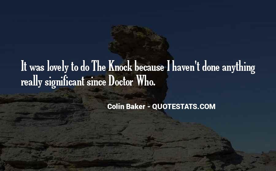 Colin Baker Quotes #1762788