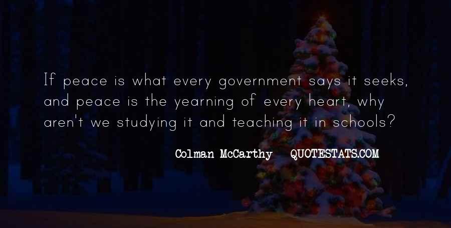 Colman McCarthy Quotes #253544