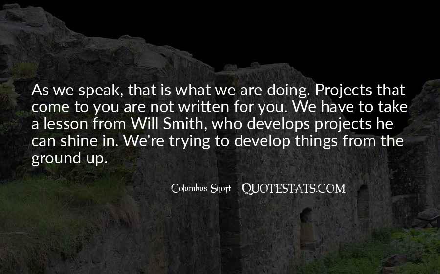 Columbus Short Quotes #85456