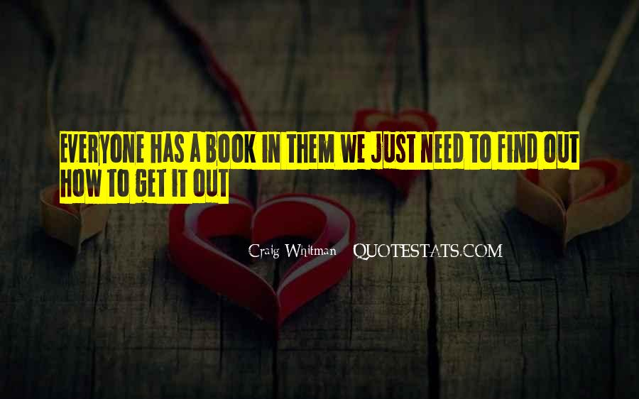 Craig Whitman Quotes #649621
