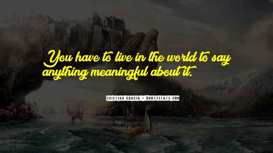Cristina Garcia Quotes #1021408