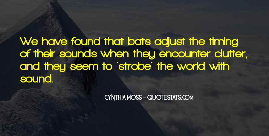 Cynthia Moss Quotes #1827497