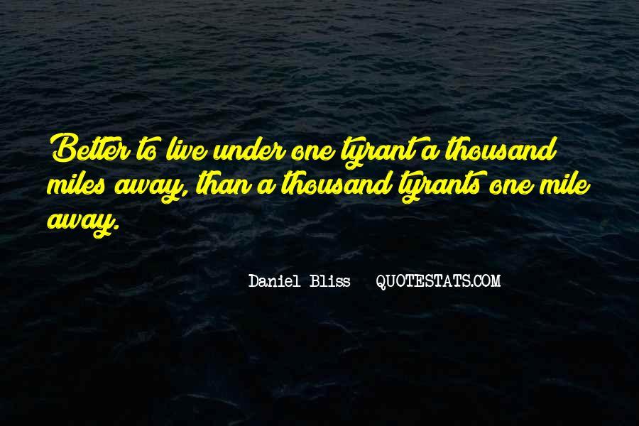 Daniel Bliss Quotes #1053848