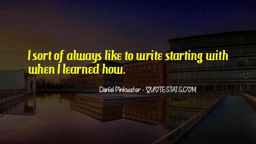 Daniel Pinkwater Quotes #1483766