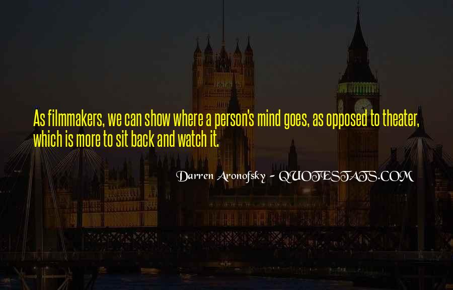 Darren Aronofsky Quotes #1627967