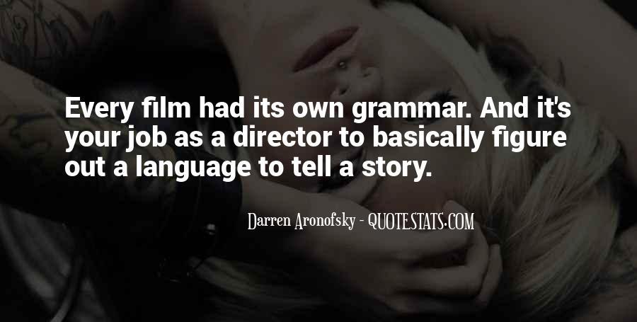 Darren Aronofsky Quotes #247994