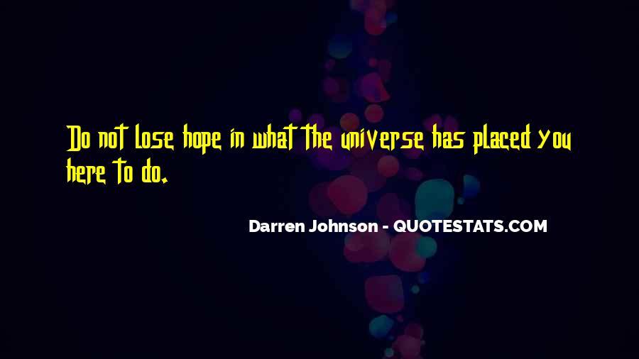 Darren Johnson Quotes #1731957