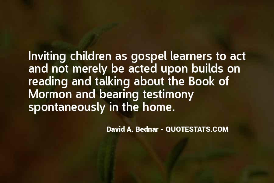 David A. Bednar Quotes #151379